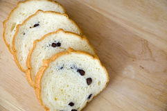 Sliced red bean bread Royalty Free Stock Image