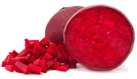 Sliced red beets. Isolated on white background Stock Images
