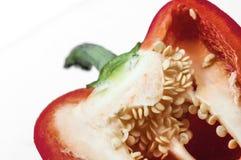 Sliced red bell pepper Stock Images