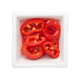 Sliced red bell pepper Stock Photography
