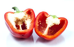 Sliced red bell pepper Royalty Free Stock Photo