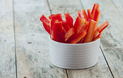 Sliced red bell pepper Royalty Free Stock Image