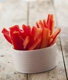 Sliced red bell pepper Stock Image