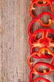 Sliced red bell peppers Stock Photo