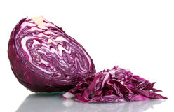 Sliced red cabbage Stock Images