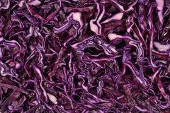 Sliced red cabbage background Stock Photography