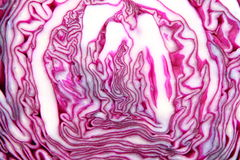 Sliced red cabbage. Royalty Free Stock Photography