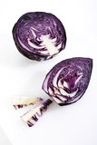 Sliced red cabbage, elevated view Stock Photography