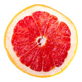Sliced red grapefruit. Isolated on white Royalty Free Stock Images