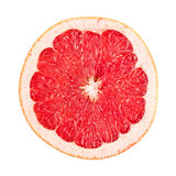 Sliced red grapefruit on white Stock Images