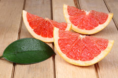 Sliced red grapefruit Stock Photography