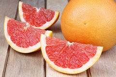 Sliced red grapefruit stock images