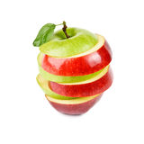 Sliced red and green apple Royalty Free Stock Photography