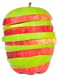 Sliced Red and Green Apples Royalty Free Stock Photography
