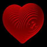Sliced, red heart depicting a lock Stock Images