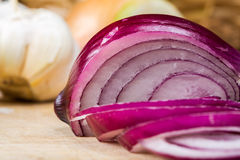 Free Sliced Red Onion Royalty Free Stock Image - 57009526