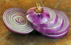 Sliced Red Onion royalty free stock image