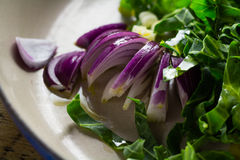 Sliced red onion Stock Images