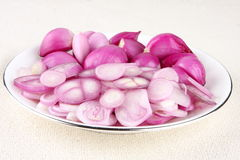 Sliced  red onions. Stock Photography