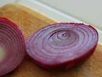 Sliced red onions Stock Image