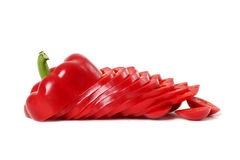 Sliced red paprika Royalty Free Stock Image
