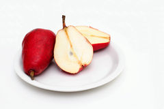 Sliced Red Pear Stock Photos