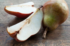 Sliced red pear Stock Image