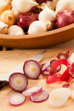 Sliced Red Pearl Onions Stock Photo