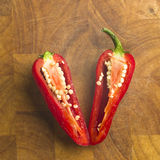 Sliced Red  pepper Royalty Free Stock Images