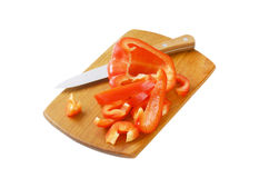 Sliced red pepper Stock Photo