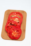 Sliced red pepper Stock Photos