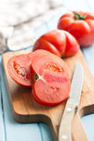 Sliced red tomato Stock Image