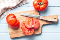 Sliced red tomato Royalty Free Stock Photography
