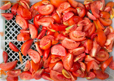 Sliced red tomatoes freshness Stock Images
