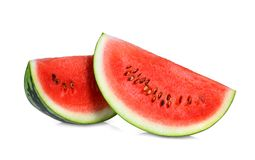 Sliced red watermelon isolated on white background Stock Photography