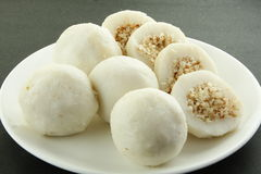 Sliced  Rice dumplings of Kerala Stock Photography