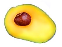 Sliced ripe avocado Stock Photo