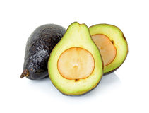 Sliced ripe avocado isolated on white background Royalty Free Stock Photography