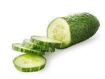 Sliced ripe cucumber Stock Image