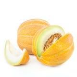 Sliced ripe melon isolated Stock Photo