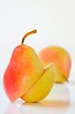 Sliced Ripe Pear Isolated Stock Photos