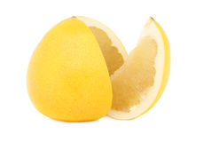 Sliced ripe pomelo (isolated) Stock Photography