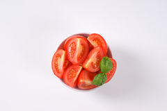 Sliced ripe tomatoes Royalty Free Stock Image