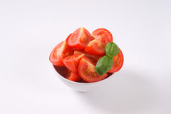 Sliced ripe tomatoes Stock Photo