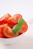 Sliced ripe tomatoes Royalty Free Stock Images