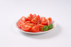 Sliced ripe tomatoes Stock Photos