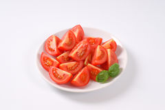 Sliced ripe tomatoes Stock Photography