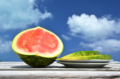 Sliced ripe watermelon Royalty Free Stock Images