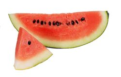 Sliced ripe watermelon isolated Stock Images