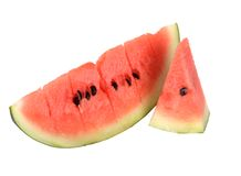 Sliced ripe watermelon isolated Royalty Free Stock Photos